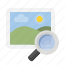 image, magnifying glass, search, seo icon