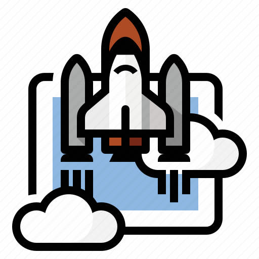 launch, nasa, rocket, shuttle, space icon