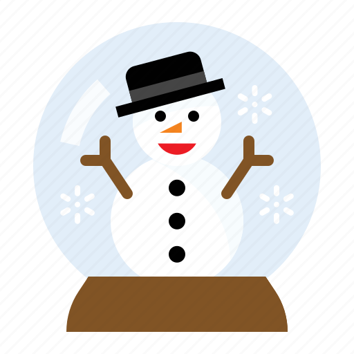 christmas, snow globe, snowman, winter icon