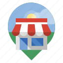 locator, retail, shop, store icon