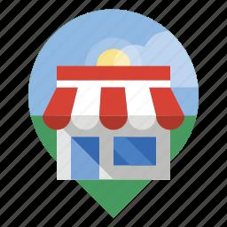 locator, retail, shop, store icon