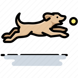 ball, dog, fetch, pet icon