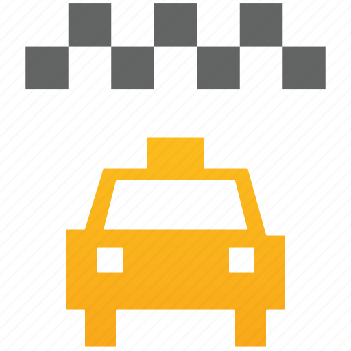 cab, car, private, ride, taxi, traffic, transport, transportation, travel, yellow icon