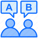 dialog, rating, discuss, review, feedback