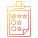checklist, clipboard, feedback, rate, survey icon