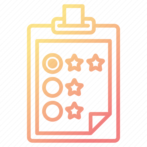 Checklist, clipboard, feedback, rate, survey icon - Download on Iconfinder