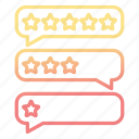 bubbles, conversation, feedback, rate icon