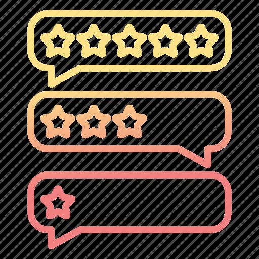 bubbles, conversation, feedback, rate icon