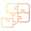 feedback, jigsaw, puzzle, solution, strategy icon