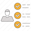 audit, exam, feedback, review, survey