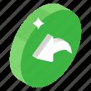 answer back, reply, response, retort, return icon