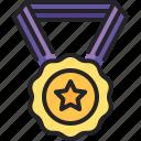 award, certificate, medal, badge, reward