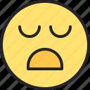 bad, face, sad, emoji, disappointed