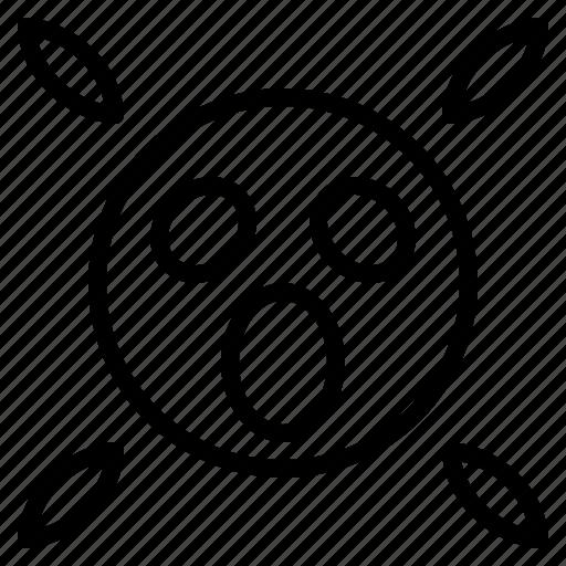 emoji, emoticon, faces, scared, shocked icon