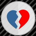 broken, divorce, heart, love, over, separation