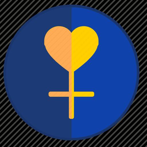 female, heart, love, passion, woman icon