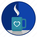 coffee, cup, love, loving, romantic, tea icon