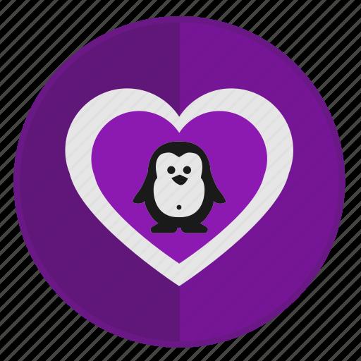animal, like, love, penguin, romantic icon