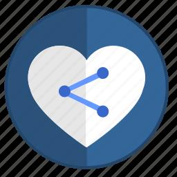 feel, heart, like, link, love, url, web icon