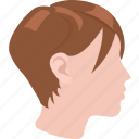 crop, cut, girl, hair, hepburn, pixie, short icon