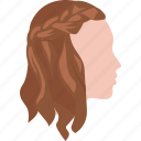 braid, braided, girls, hair, hippy, plaits, tiara icon