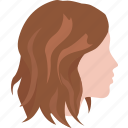 cut, girl, hair, lob, sally, shag, shaggy icon