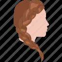 braided, chic, hair, rapunzel, salon, style, tail icon