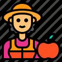 nutritionist, avatar, occupation, woman, friut icon