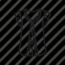 clothes, clothing, female shirt, girl shirt, girls shirt, shirt, short sleeve shirt icon