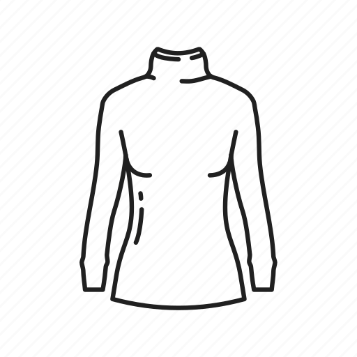 girls shirt, girls sweater, girls turtleneck, long sleeve shirt, shirt, sweater, turtleneck icon