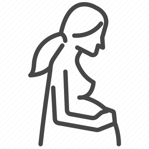female, feminine, mom, mother, pregnancy, pregnant, woman icon
