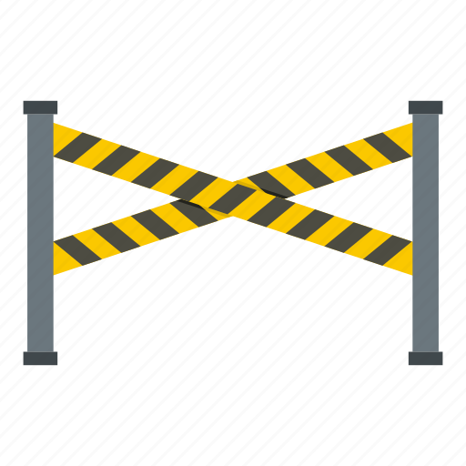 area, banner, barrier, caution, cop, cordon, police line icon
