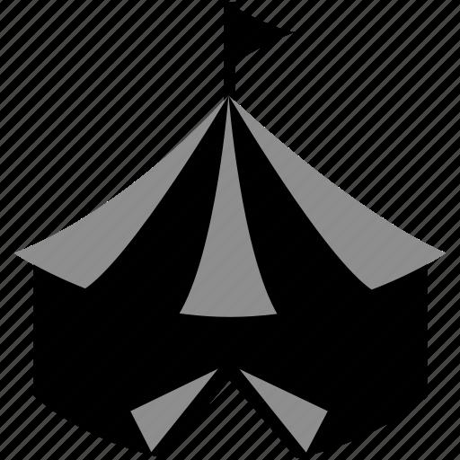 circus, festival, fun house, tent icon