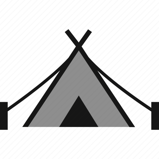 camp, camping, teepee, tent icon