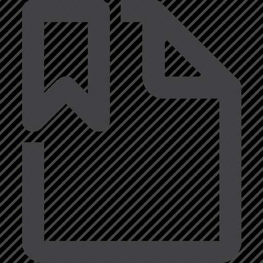 bookmark, content, file icon