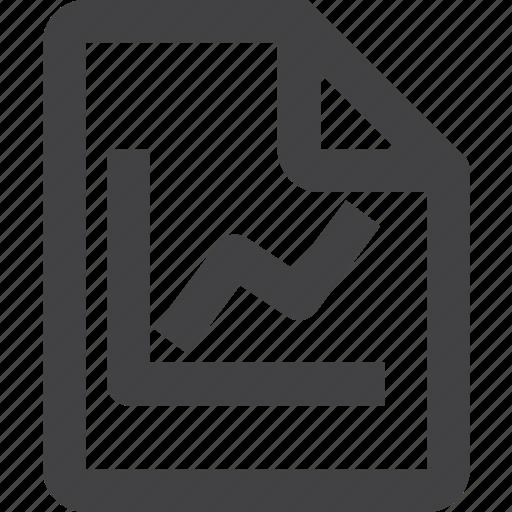 chart, content, file icon