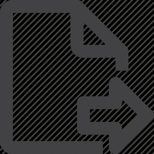 content, file, next icon
