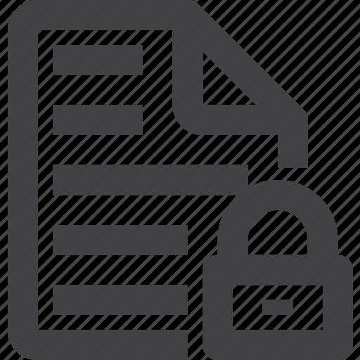 content, file, lock, text icon
