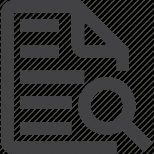 content, file, search, text icon