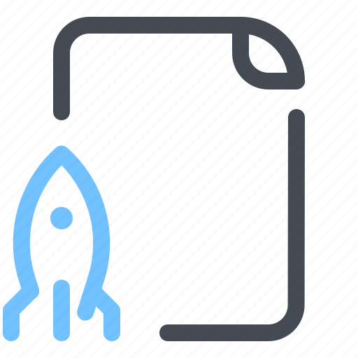 File, optimization, missile, rocket, spacecraft, startup icon - Download on Iconfinder