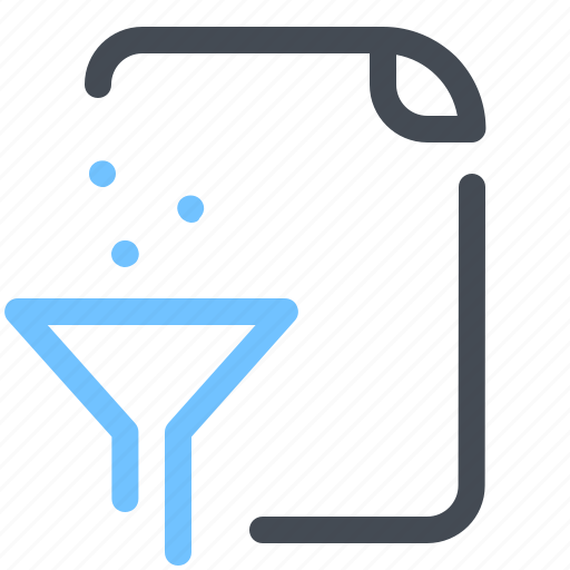 document, file, filter, funnel, optimization, paper, sort icon