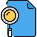 business, document, education, file, research, search icon
