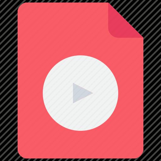 document, file, media, movie, video icon