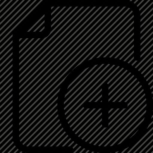 add, add file, document, file, folder, paper icon icon