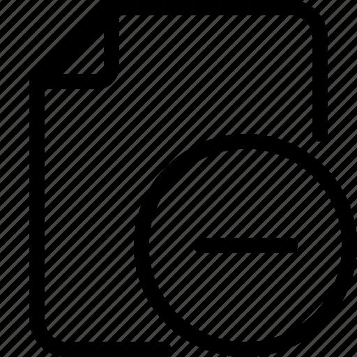 delete, delete file, document, file, folder, paper icon icon