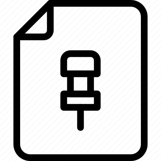 document, file, folder, paper icon, pin icon