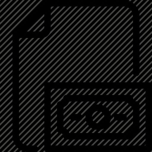 document, file, folder, money, paper icon icon