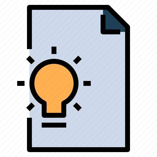document, file, idea, invention, project icon