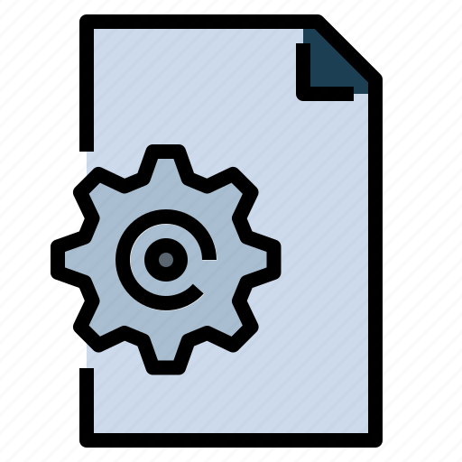 archive, document, file, interface, settings icon
