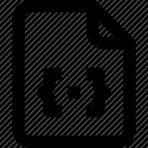code, develop, development, document, file, page, paper icon